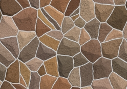 Seamless pattern and texture of stone wall in brown